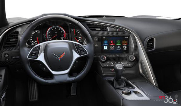 2018 Chevrolet Corvette Convertible Stingray 2LT | Photo 3 | Jet Black Competition Sport buckets Perforated Mulan leather seating surfaces (193-AE4)