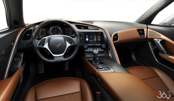 2018 Chevrolet Corvette Coupe Stingray 3LT | Photo 2 | Kalahari GT buckets Leather seating surfaces with sueded microfiber inserts (346-AQ9)