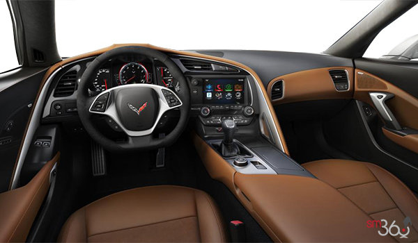 2018 Chevrolet Corvette Coupe Stingray 3LT | Photo 2 | Kalahari Competition Sport buckets Leather seating surfaces with sueded microfiber inserts (346-AE4)