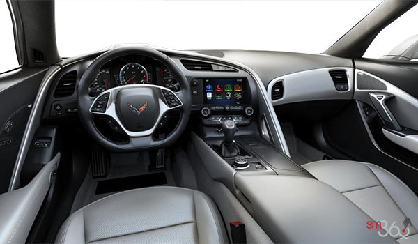 2018 Chevrolet Corvette Coupe Stingray Z51 1LT | Photo 2 | Grey GT buckets Perforated Mulan leather seating surfaces (141-AQ9)