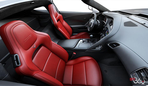 2018 Chevrolet Corvette Coupe Z06 1LZ   Photo 1   Adrenaline Red GT buckets Perforated Mulan leather seating surfaces (701-AQ9)