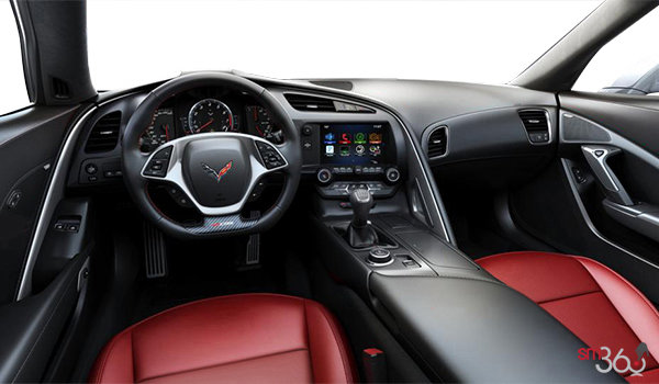2018 Chevrolet Corvette Coupe Z06 1LZ   Photo 3   Adrenaline Red GT buckets Perforated Mulan leather seating surfaces (701-AQ9)
