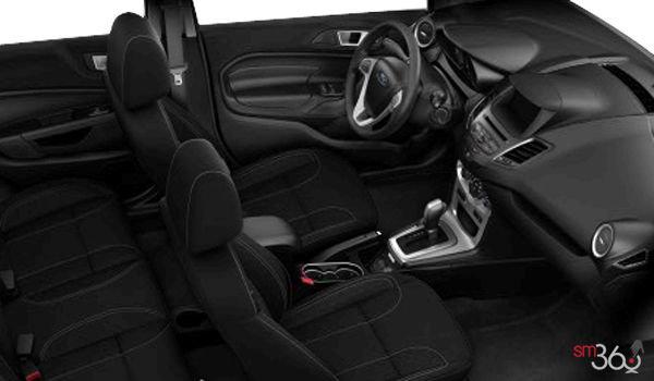 2018 Ford Fiesta Sedan SE | Photo 1 | Charcoal Black Unique Cloth Bolster w/Silver Seat Stitching  (GD)