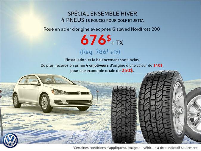 Spécial pneus d'hiver