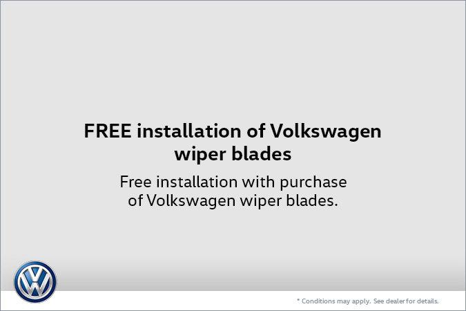 Free Installation of Volkswagen Wiper Blades
