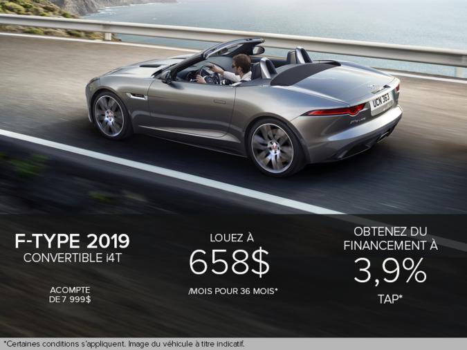 La F-Type Décapotable i4T 2019