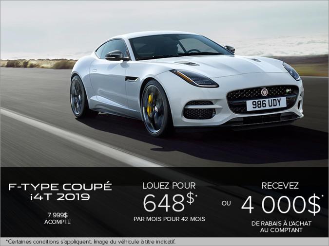 La Jaguar F-TYPE Coupé i4T 2019