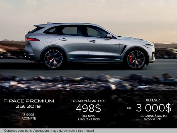 Le Jaguar F-PACE Premium 25t TI 2019