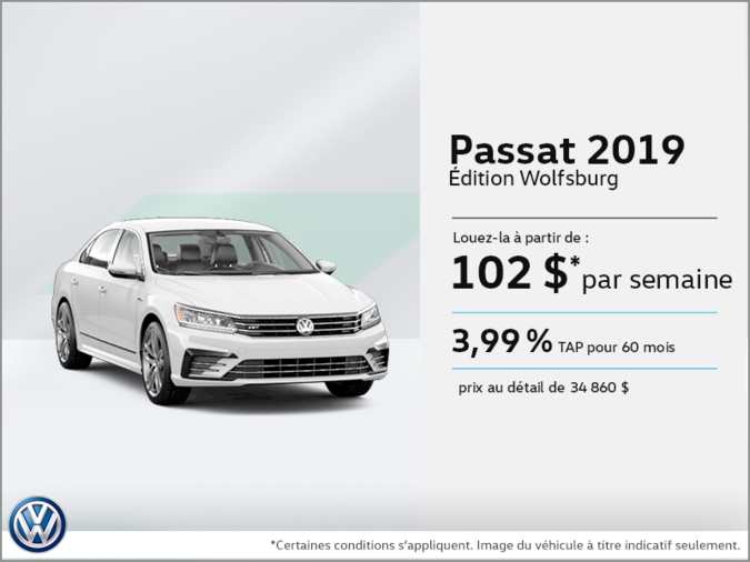 Louez la Passat 2019!