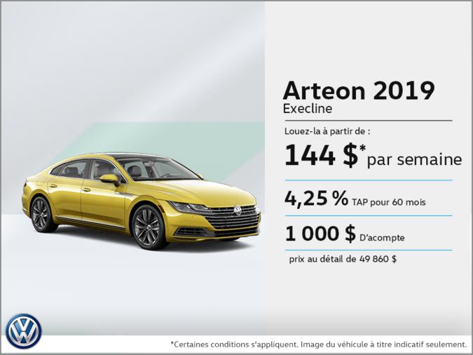 Louez la nouvelle Arteon 2019!