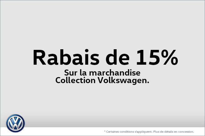 Rabais de 15% sur la marchandise Collection Volkswagen