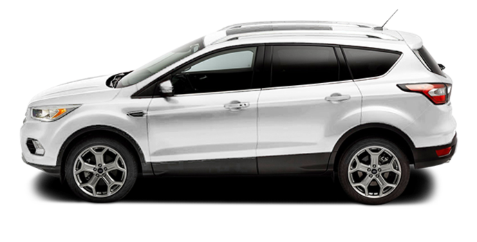 2017 Ford Escape TITANIUM   Photo 4   White Platinum