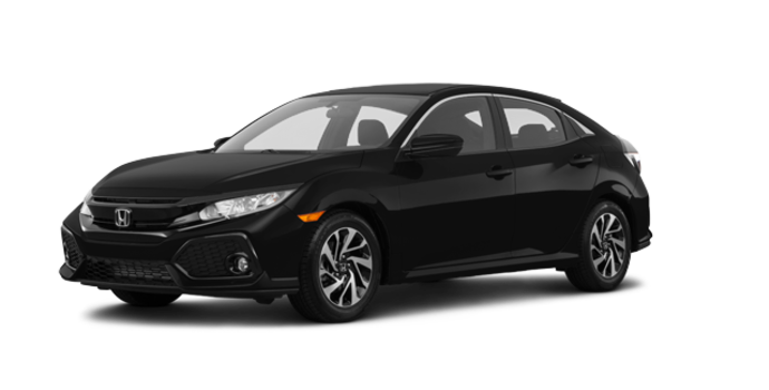 2017 Honda Civic hatchback LX   Photo 6   Crystal Black Pearl