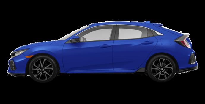 2017 Honda Civic hatchback SPORT   Photo 4   Aegean Blue Metallic