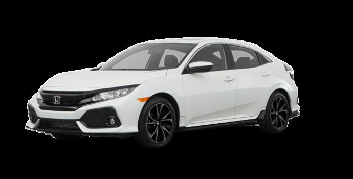 2017 Honda Civic hatchback SPORT   Photo 6   White Orchid Pearl