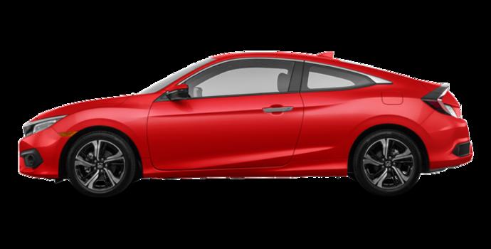 2017 Honda Civic Coupe TOURING | Photo 4 | Rallye Red