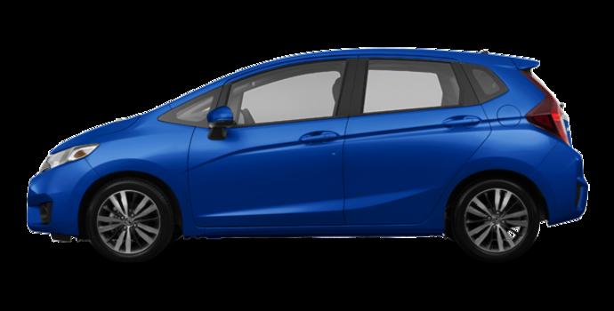 2017 Honda Fit EX-L NAVI   Photo 4   Aegean Blue Metallic