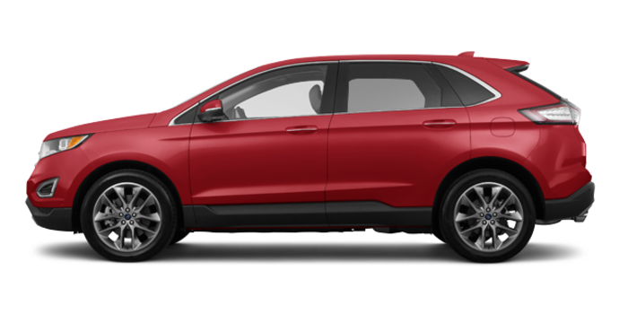 2018 Ford Edge TITANIUM   Photo 4   Ruby Red Metallic Tinted Clearcoat