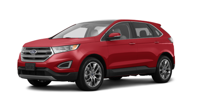 2018 Ford Edge TITANIUM   Photo 6   Ruby Red Metallic Tinted Clearcoat