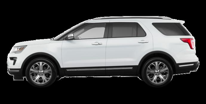 2018 Ford Explorer PLATINUM | Photo 4 | White Platinum Metallic