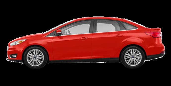 2018 Ford Focus Sedan TITANIUM | Photo 4 | Hot Pepper Red Metallic