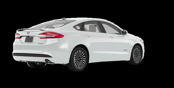2018 Ford Fusion Hybrid TITANIUM   Photo 5   White Platinum
