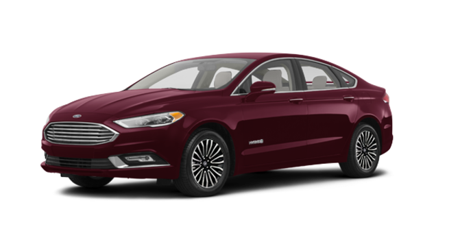 2018 Ford Fusion Hybrid TITANIUM   Photo 6   Burgundy Velvet