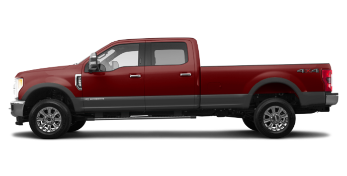 2018 Ford Super Duty F-250 KING RANCH   Photo 4   Magma Red/Stone Grey