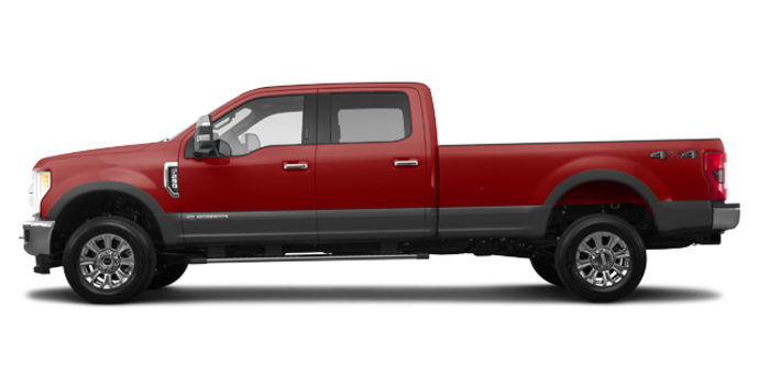 2018 Ford Super Duty F-250 KING RANCH   Photo 4   Ruby Red/Stone Grey