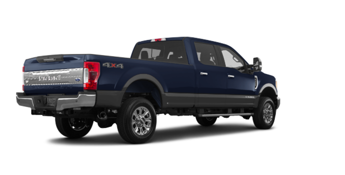 2018 Ford Super Duty F-250 KING RANCH   Photo 5   Blue Jeans /Stone Grey