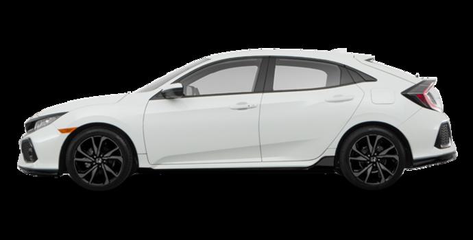 2018 Honda Civic hatchback SPORT HONDA SENSING | Photo 4 | White Orchid Pearl