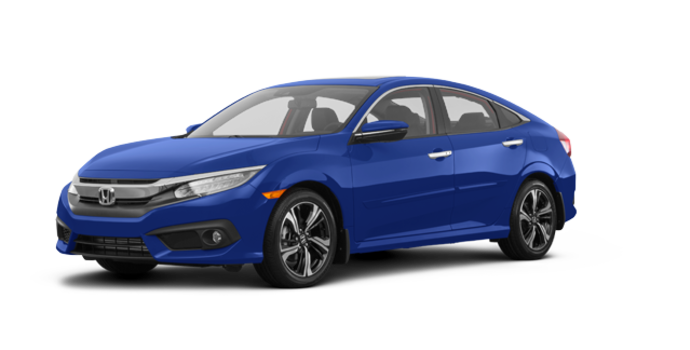 2018 Honda Civic Sedan TOURING   Photo 6   Aegean Blue Metallic