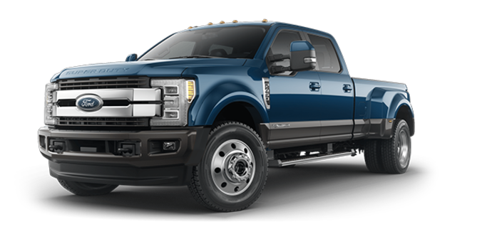 2018 Ford Super Duty F-450 KING RANCH | Photo 6 | Blue Jeans Metallic/Stone Grey