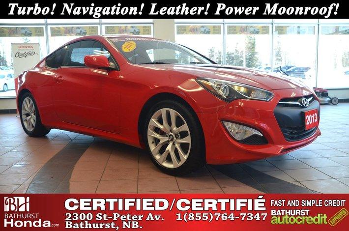 2013 Hyundai Genesis Coupe NICE!!! Turbo! Navigation! Leather! Power  Moonroof