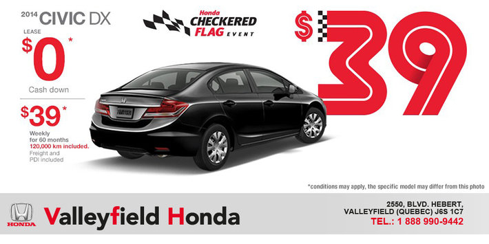 Lease The 2014 Honda Civic DX From Only $39