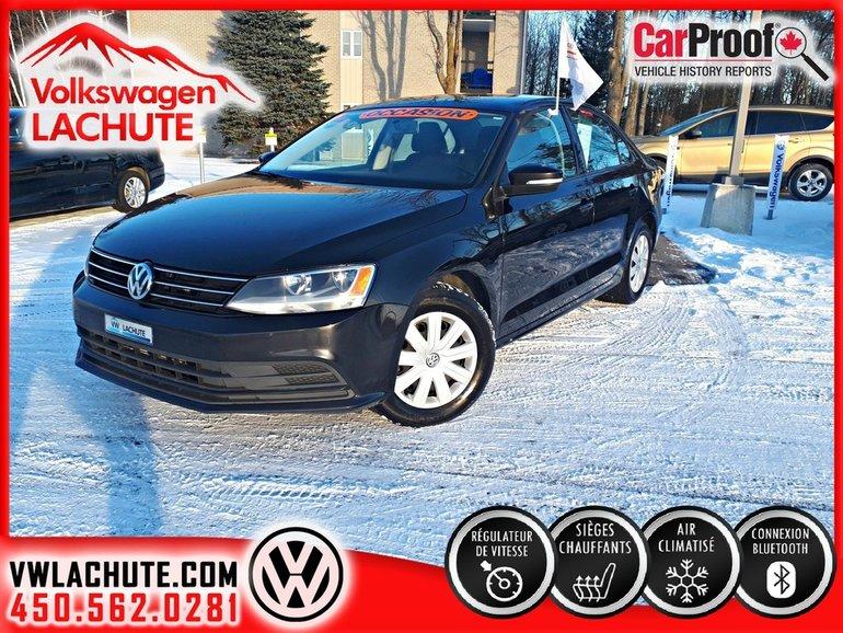 Used 2015 Volkswagen Jetta TRENDLINE PLUS + AIR + CAMÉRA DE
