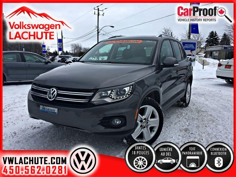 2014 Volkswagen Tiguan COMFORTLINE+ENSEMBLE SPORT+MAGS+TOIT PANO