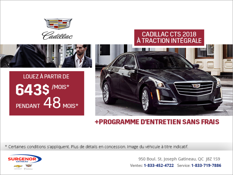Cadillac CTS à traction intégrale