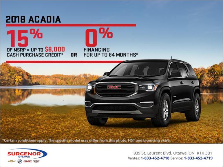 The 2018 GMC Acadia