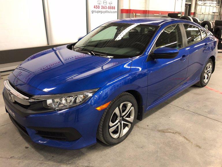 Honda Civic Sedan LX Garantie complète jusqu'en 2021 2016