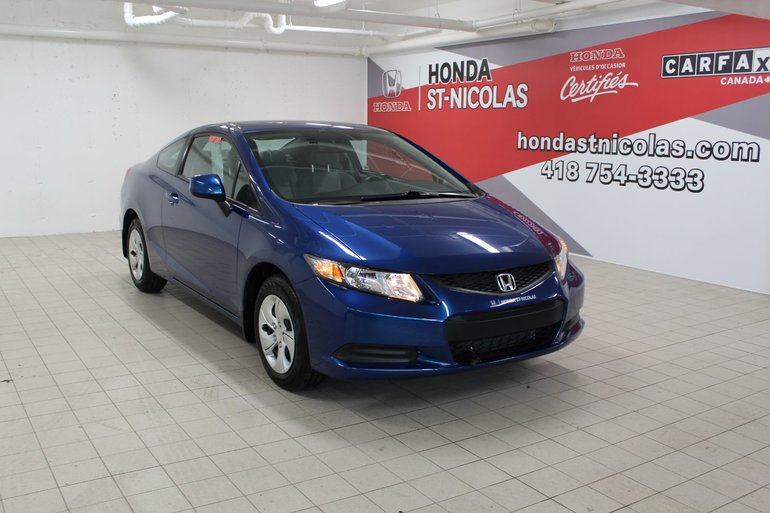 Honda Civic Cpe LX + SIÈGES CHAUFFANTS + DÉMARREUR  + BLUETOOTH 2013