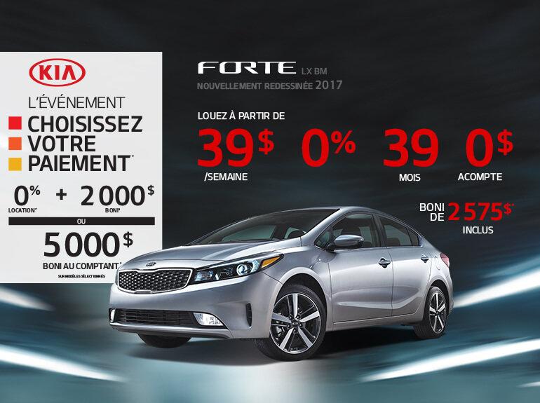 Louez la nouvelle Kia Forte 2017 aujourd'hui
