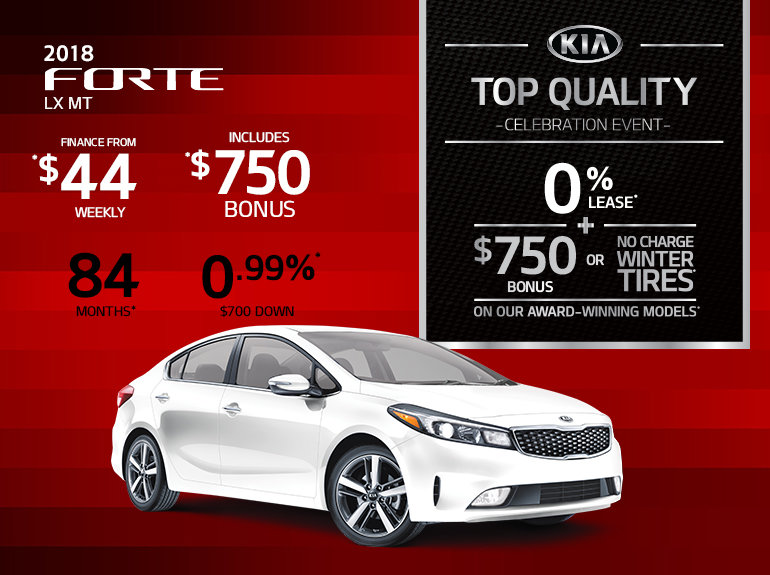 Get the New 2018 Kia Forte Today