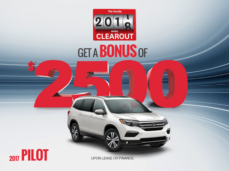 Save on the 2017 Honda Pilot Today!