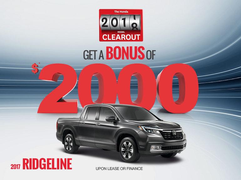 Save on the 2017 Honda Ridgeline Today!