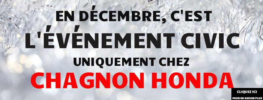 L'ÉVÉNEMENT CIVIC CHEZ CHAGNON HONDA