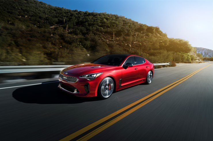 Here is the brand new 2018 Kia Stinger