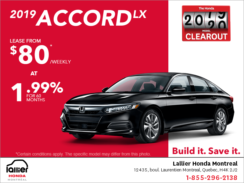 Lease the 2019 Honda Accord Sedan!
