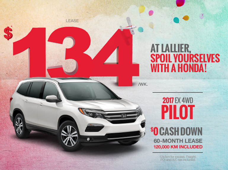 Lease the 2017 Honda Pilot Today!