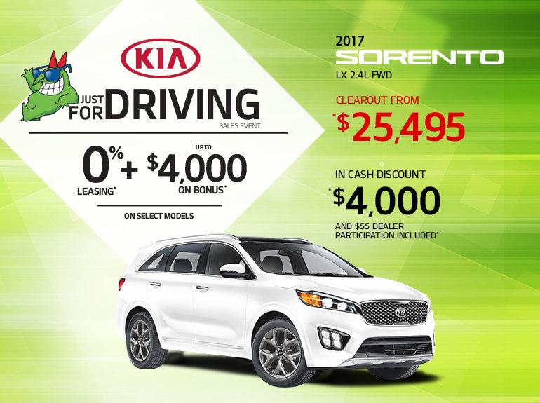 Save Big on the 2017 Kia Sorento